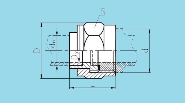 Соединения штуцерно-торцовые накидые
