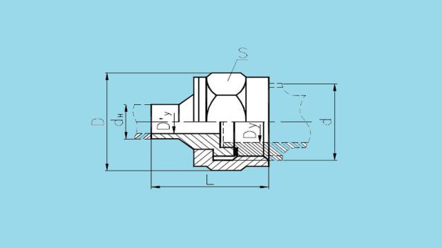 Соединения штуцерно-торцовые переходные встык тип 4